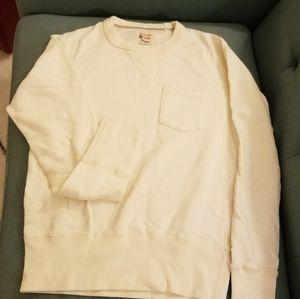Cream Champion sweater shirt